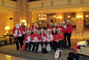 The Canadian Cowgirls performed at the Royal and made the Royal York their home too.