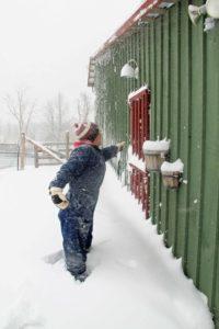snow farm winter canada barn