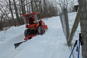 tractor, kubota, winter, snow, farm