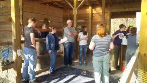 barn shearing volunteers workers